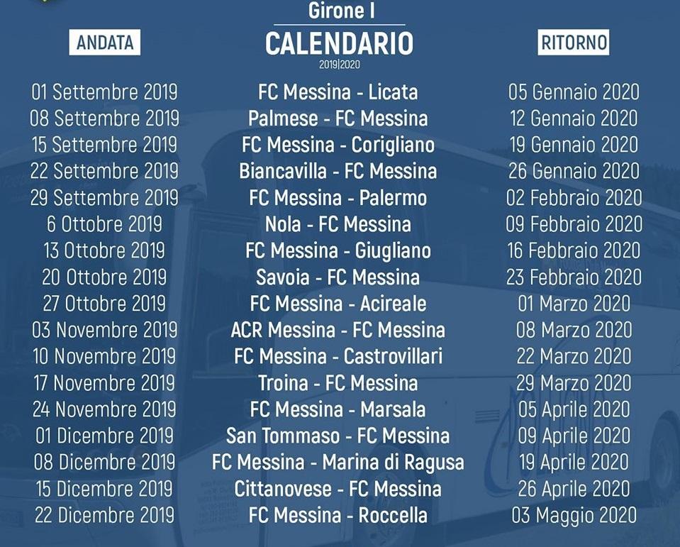Calendario Marzo 2020.Calendario Serie D Gir I Esordio A Troina Per L Acr